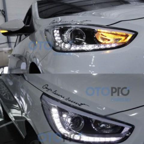 Đèn pha độ LED cho xe Hyundai Accent 2011 mẫu Mobis