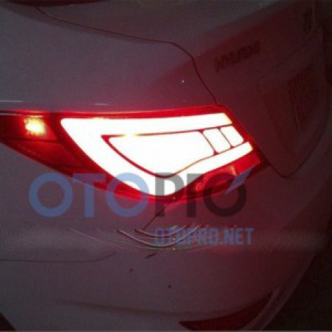 Đèn hậu độ nguyên bộ cho xe Accent 2011 mẫu LED khối