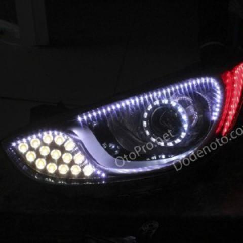 Độ đèn bi Xenon, Projector, Angel Eyes Lens, LED mí, Module xi nhan cho xe Accent