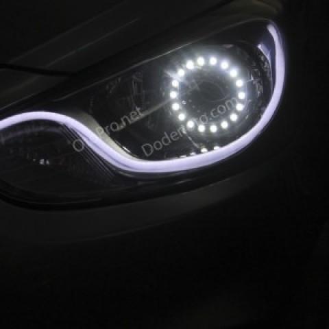 Độ đèn bi xenon, angel eyes lens, LED mí khối cho Accent