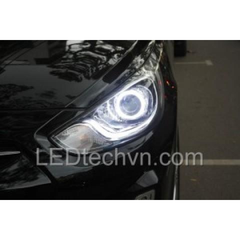Độ đèn bi Xenon, độ bi Xenon, Projector xe Hyundai Accent