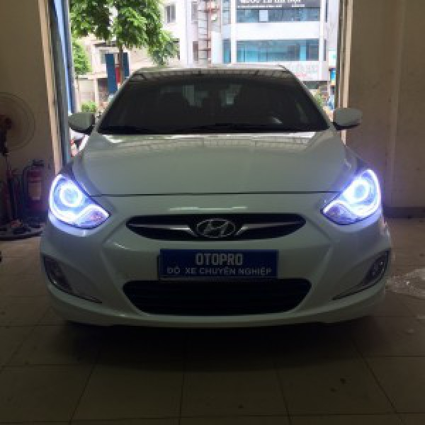 Hyundai Accent 2012 Độ Bi Q5, Bóng Osram, Led Mí Khối, Vòng Angle