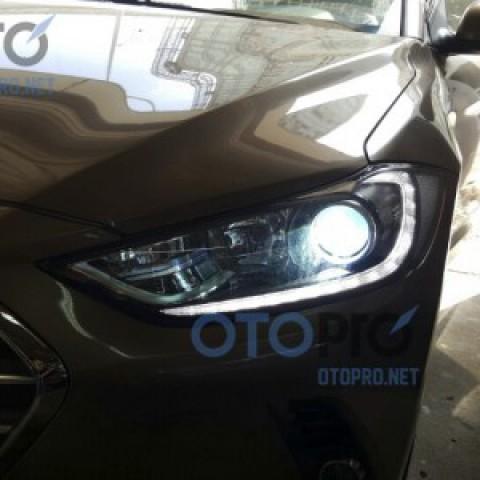 Lắp bóng xenon siêu sáng cho xe Elantra 2016