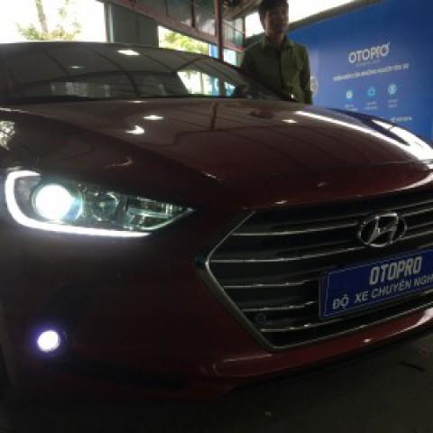 Hyundai Elantra độ bi hella5 , mắt quỷ đỏ, led gầm