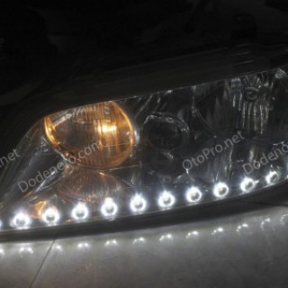 Độ dải LED mí O-Block cho xe Hyundai Equus đời 2005