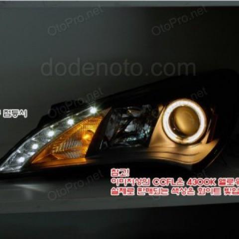 Đèn pha độ nguyên bộ cho xe Hyundai Genesis Coupe LED hạt