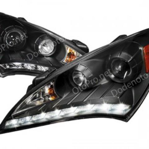 Đèn pha độ LED nguyên bộ mẫu DSG cho xe Genesis Coupe