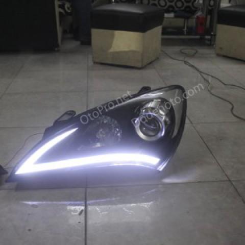 Độ dải LED mí khối cho xe Hyundai Genesis Couper