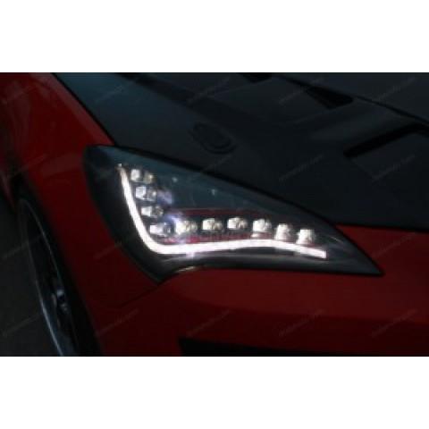 Độ đèn pha LED, xi nhan, daylight Genesis Coupe kiểu Audi A6
