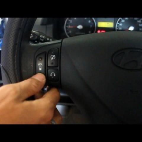 Độ nút điều khiển âm thanh trên vô lăng cho xe Getz