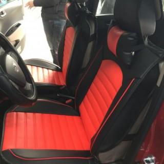 Hyundai I10 lắp áo ghế đỏ đen