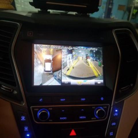 Hyundai Santa Fe độ camera 360 Owin Sony