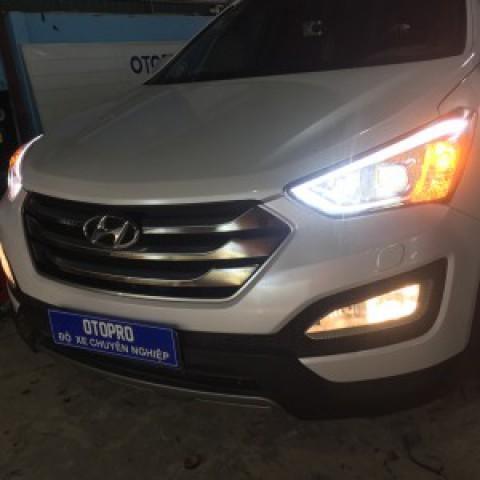 Hyundai Santafe 2015 Lắp Led Pha A8