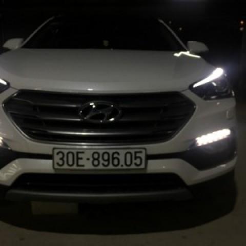 Hyundai santafe 2017 lắp đèn gầm mẫu mobis