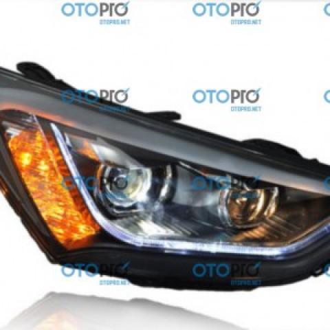 Đèn pha độ LED nguyên bộ cho xe Hyundai Santafe 2014-2015