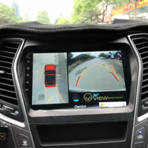 Camera 360 cho xe Hyundai Santafe