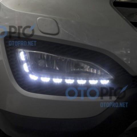Độ dải LED Transformer đèn gầm daylight Santafe 2015