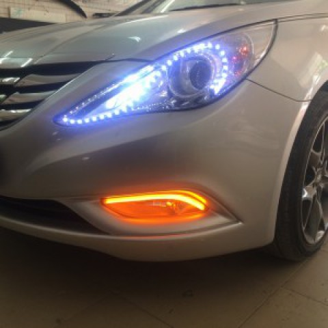 Hyundai Sonana 2010 độ led mí silicon gầm