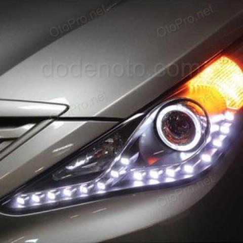 Đèn pha độ nguyên bộ cho xe Sonata Y20 mẫu LED hạt