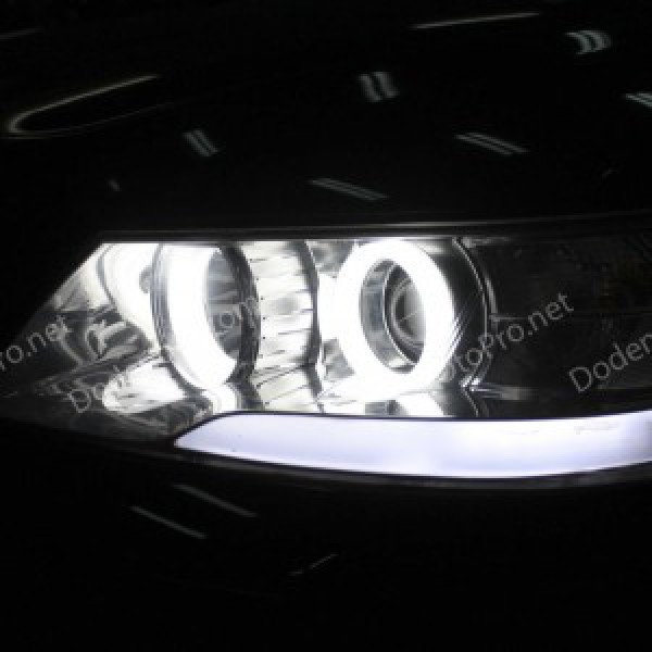 Độ dải LED mí khối, angel eyes khối cho xe Sonata NF