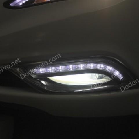 Đèn gầm LED nguyên bộ cho xe Hyundai Sonata mẫu mạ crom