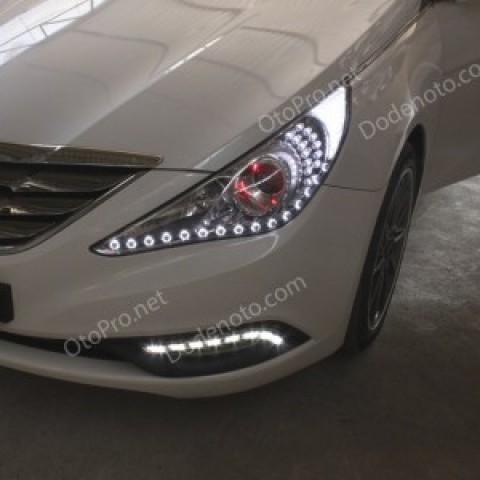 Độ LED mí oblock, module xi nhan, đèn gầm cho Sonata YF
