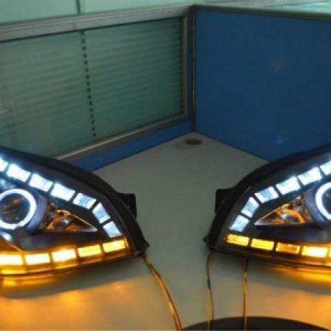 Đèn pha độ LED nguyên bộ cho xe Hyundai Tucson 2004-2008