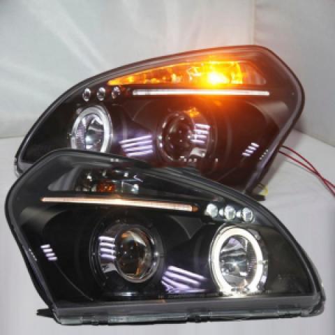 Đèn pha độ LED nguyên bộ xe Tucson 2004-2008 mẫu 2