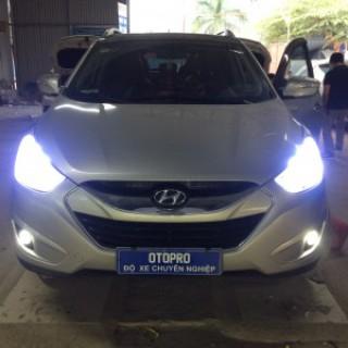 Hyundai Tucson Độ Vòng Angel, Led Mí, Bi Gầm