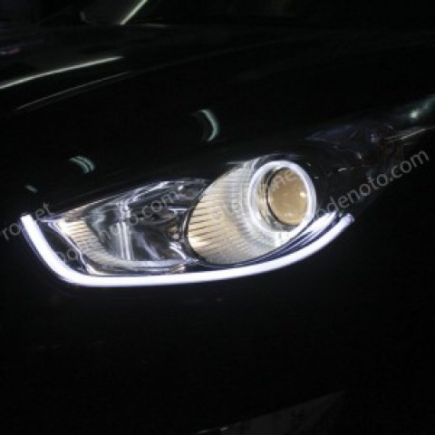Độ vòng angel eyes kiểu BMW, LED mí khối cho Tucson IX