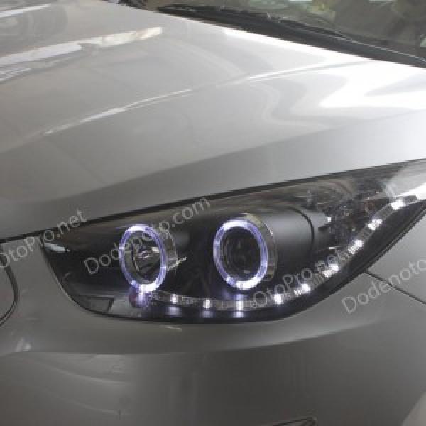 Đèn pha độ LED nguyên bộ cho Tucson IX mẫu LED hạt kiểu 1