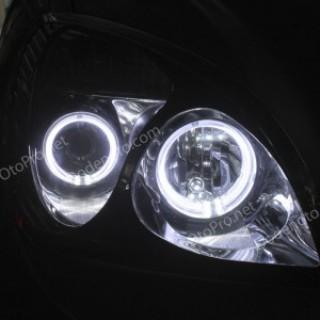Độ vòng Angel Eyes LED kiểu BMW cho xe Kia Carens