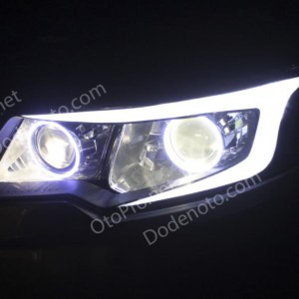 Độ đèn bi xenon, angel eyes, LED mí khối cho Kia Forte