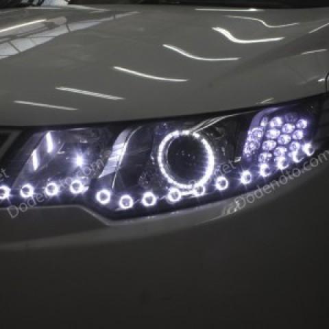 Độ bi xenon, angel eyes, LED mí oblock, xi nhan xe Forte