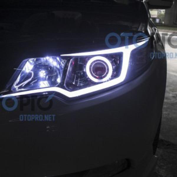 Độ bi xenon, angel eyes, LED mí khối, daylight xe Forte