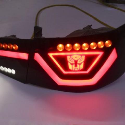 Độ đèn hậu xe Forte mẫu Transformer