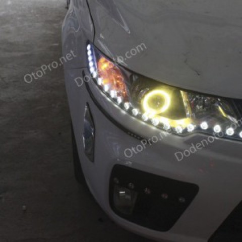 Độ bi xenon, angel eyes khối, LED mí oblock, daylight Forte Koup