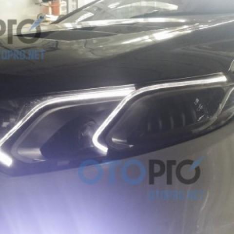 Độ bi xenon, LED mí khối Forte Koup kiểu Mercedes E-Class