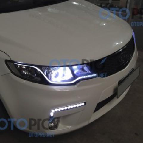 Độ đèn gầm LED daylight qblock cho xe Forte Koup
