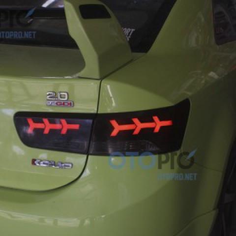 Độ đèn hậu LED khối cho xe Kia Forte Koup mẫu Lamborghini