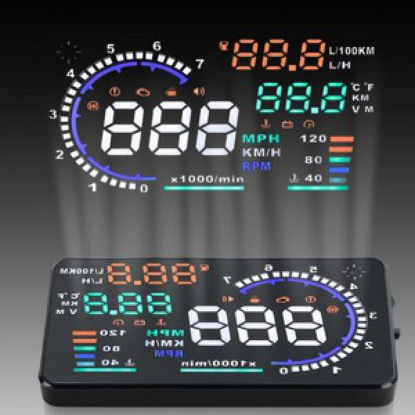 Bộ hiển thị tốc độ trên kính lái HUD A8 cho xe Vios 2008-2013