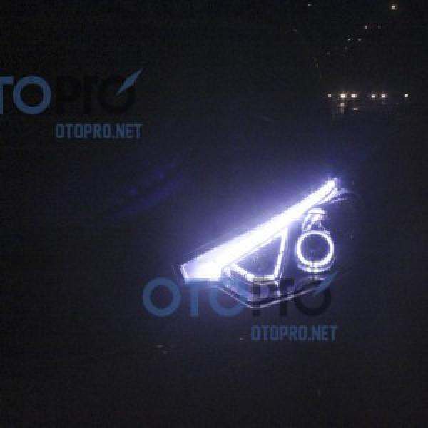 Độ đèn circle eyes LED, angel eyes LED cho xe Kia K3
