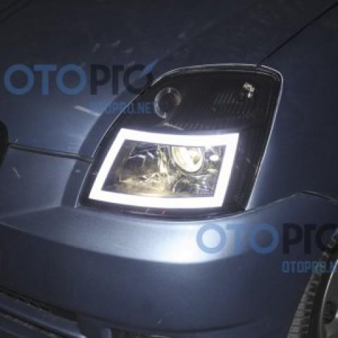 Độ đèn bi xenon, LED khối vuông xe Morning 2006