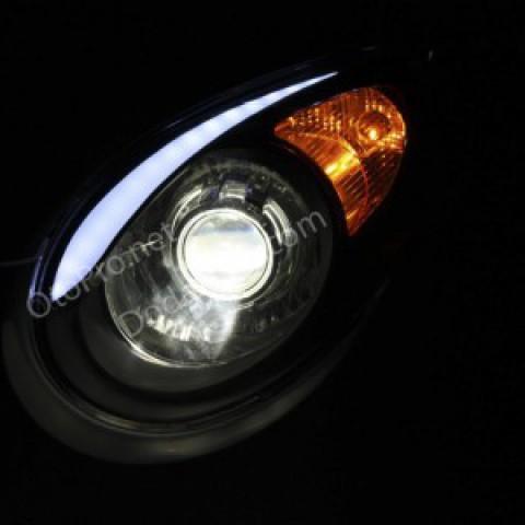 Độ đèn bi xenon,  LED mí khối cho xe Morning 2010