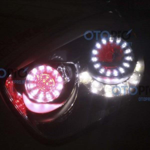 Độ vòng angel eyes LED, mắt quỷ đỏ cho xe Kia Morning 2012