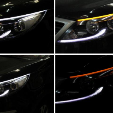 Dải LED mý trên đèn pha Sorento R