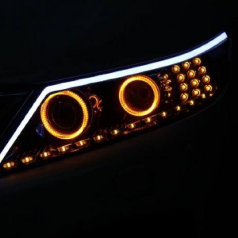 Độ đèn pha Kia Sorento mẫu 220 04