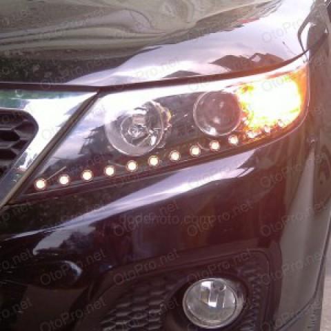Độ dải LED mí oblock cho xe Kia Sorento