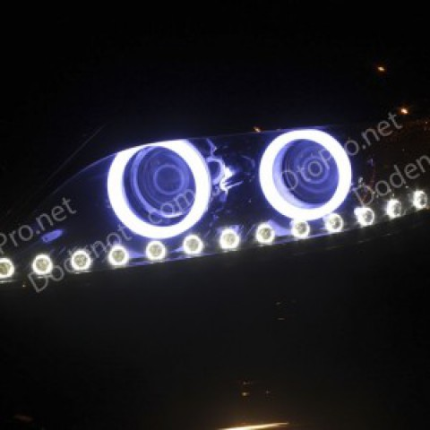 Độ dải LED mí Oblock, Angel Eyes khối cho Kia Sorento