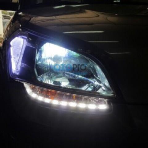 Độ LED mí Daylight thủy tinh cho Kia Soul